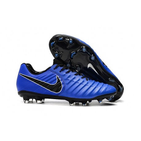 Nike Tiempo Legend 7 Elite FG Firm Ground New Boots - Blue Black