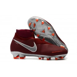 Nike Phantom Vision Elite DF FG Men's Soccer Boots - Red Silver