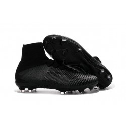 New 2016 Nike Mercurial Superfly V FG Speed Soccer Cleats All Black