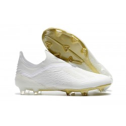 adidas X 18+ FG Mens Football Boots - White Gold