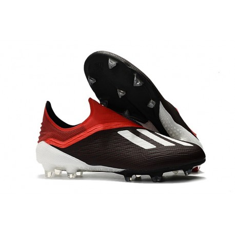 adidas X 18+ FG Mens Football Boots - Black White Red