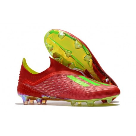 adidas X 18+ FG Mens Football Boots - Red Green
