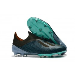 New adidas X 18+ FG Soccer Cleat - Blue Black