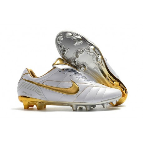 separation shoes ac20b e2ded Nike Tiempo Legend 7 R10 Elite FG Firm Ground New Boots - White Gold