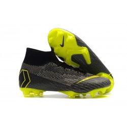 Nike Mercurial Superfly VI 360 Elite FG Cleats - Black Yellow
