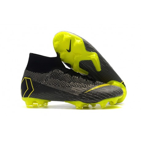 timeless design 0d460 0391a Nike Mercurial Superfly VI 360 Elite FG Cleats - Black Yellow