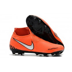Nike Phantom VSN Elite DF FG Firm Ground Cleat - Orange Black Silver