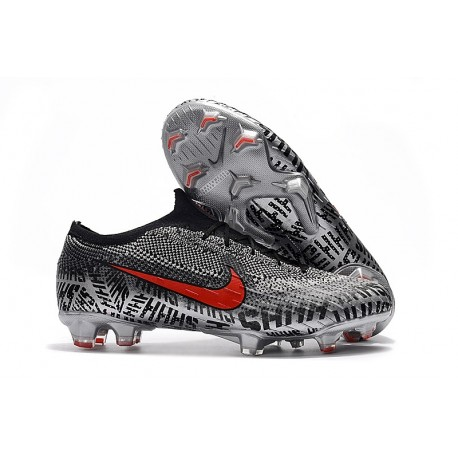 Neymar Nike Mercurial Vapor 12 Elite FG News Soccer Boots - Black White Red