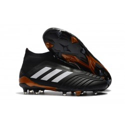 adidas Predator 18+ FG Mens Soccer Boots - Black White Red