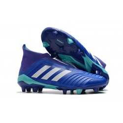 adidas Predator 18+ FG Mens Soccer Boots - Blue White