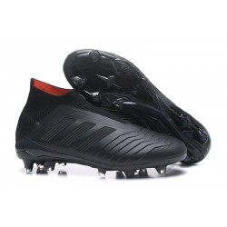 adidas Predator 18+ FG Mens Soccer Boots - All Black
