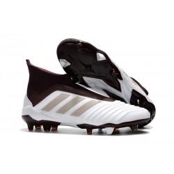 adidas Predator 18+ FG Mens Soccer Boots - White Brown
