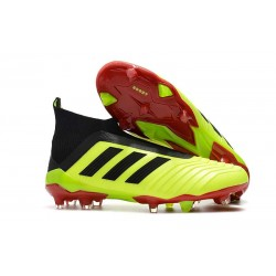 adidas Predator 18+ FG Mens Soccer Boots - Yellow Black Red