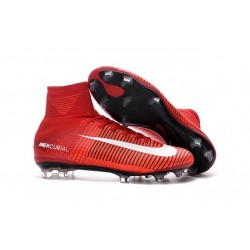 New 2016 Nike Mercurial Superfly V FG Speed Soccer Cleats Red White