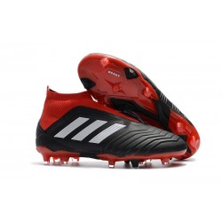 New adidas Predator 18+ FG Soccer Cleats - Black Red White