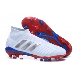 New adidas Predator Telstar 18+ FG Soccer Cleats - White Silver Red