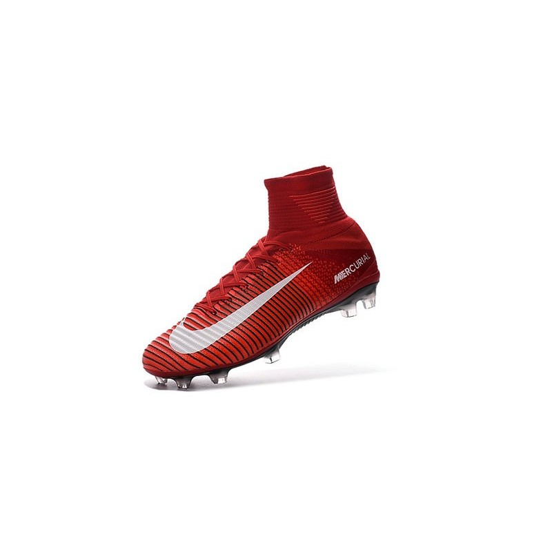 e16183843ac9 New 2016 Nike Mercurial Superfly V FG Speed Soccer Cleats Red White