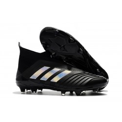 New adidas Predator 18+ FG Soccer Cleats - Black Silver