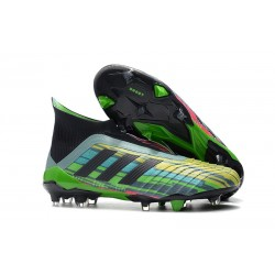 adidas Predator 18+ FG Firm Ground Boot - Green Black