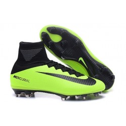 New 2016 Nike Mercurial Superfly V FG Speed Soccer Cleats Green Black