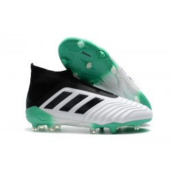 adidas Predator 18+ FG Firm Ground Boot - White Black Green