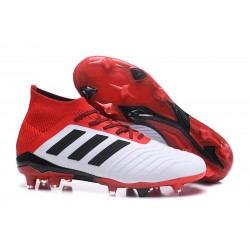 adidas Predator 18.1 Mens FG Soccer Cleats White Red Black