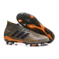 adidas Predator 18.1 Mens FG Soccer Cleats Olive Orange Black