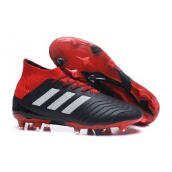 adidas Predator 18.1 Mens FG Soccer Cleats Black Red White