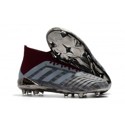 adidas Predator 18.1 Paul Pogba PP FG Soccer Cleats -Grey Red