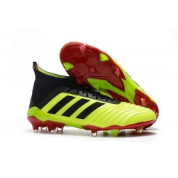 adidas Predator 18.1 Mens FG Soccer Cleats Yellow Black Red