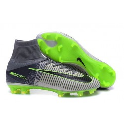 New 2016 Nike Mercurial Superfly V FG Speed Soccer Cleats Grey Black Green