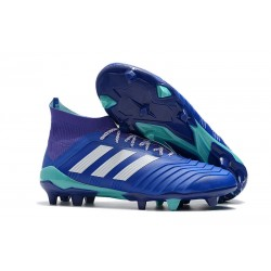 adidas Predator 18.1 Firm Ground FG Boots - Blue White