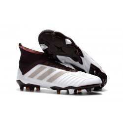 adidas Predator 18.1 Firm Ground FG Boots - White Brown