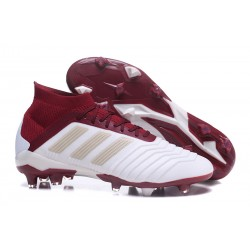 adidas Predator 18.1 Firm Ground FG Boots - White Red