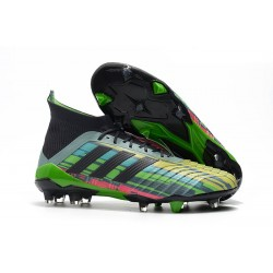 adidas Predator 18.1 Firm Ground FG Boots - Green Black