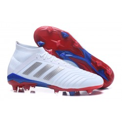 adidas Telstar Predator 18.1 Firm Ground FG Boots - White Silver