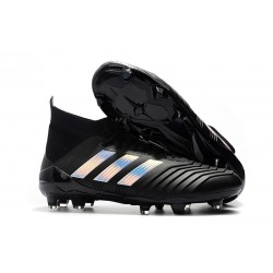 adidas Predator 18.1 Firm Ground FG Boots - Black Silver