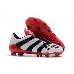 adidas Predator Accelerator FG Soccer Boot - White Black Red