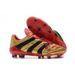 adidas Predator Accelerator FG Soccer Boot - Gold Black Red