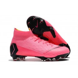 Nike Mercurial Superfly VI 360 Elite FG Cleats - Pink Black