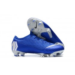 Nike Mercurial Vapor XII Elite FG Firm Ground Cleats - Blue Silver