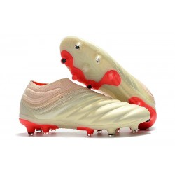 adidas Copa 19+ FG Firm Ground Soccer Boot - Off White Red
