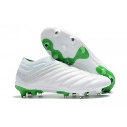 adidas Copa 19+ FG Firm Ground Soccer Boot - White Green