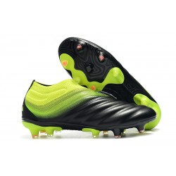 adidas Copa 19+ FG Firm Ground Soccer Boot - Black Green