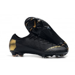 Nike Mercurial Vapor XII Elite FG Firm Ground Cleats - Black Gold