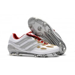 adidas Predator Accelerator FG Mens Cleat - Gray Gold Red