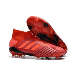 adidas New Predator 19.1 FG Mens Soccer Boots - Red