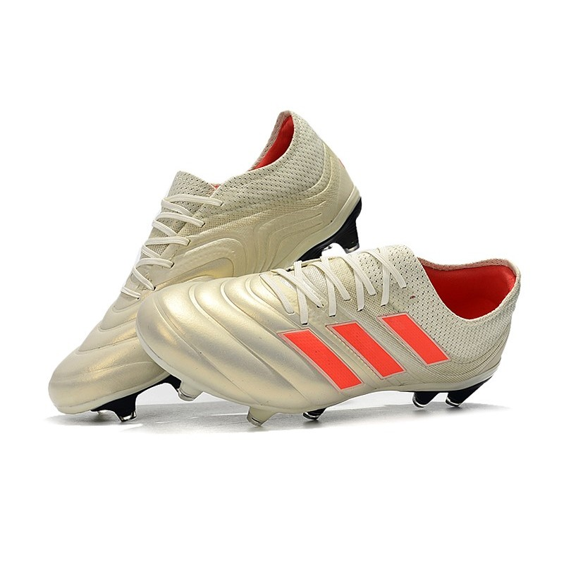 aa73257da adidas Copa 19.1 FG News Soccer Shoes Off White Solar Red