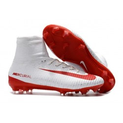 Nike C.Ronaldo Mercurial Superfly 4 FG Soccer Boot White Red