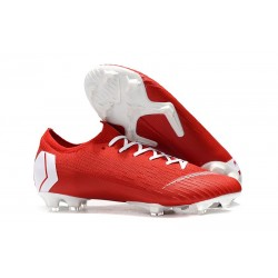 Nike Mercurial Vapor XII Elite FG Firm Ground Cleats - Red White